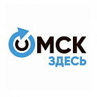 "The banner on the site ""OMSK HERE"""